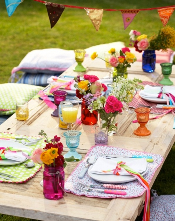 Easter Table Setting Idea Layout Lunch Outdoor Party