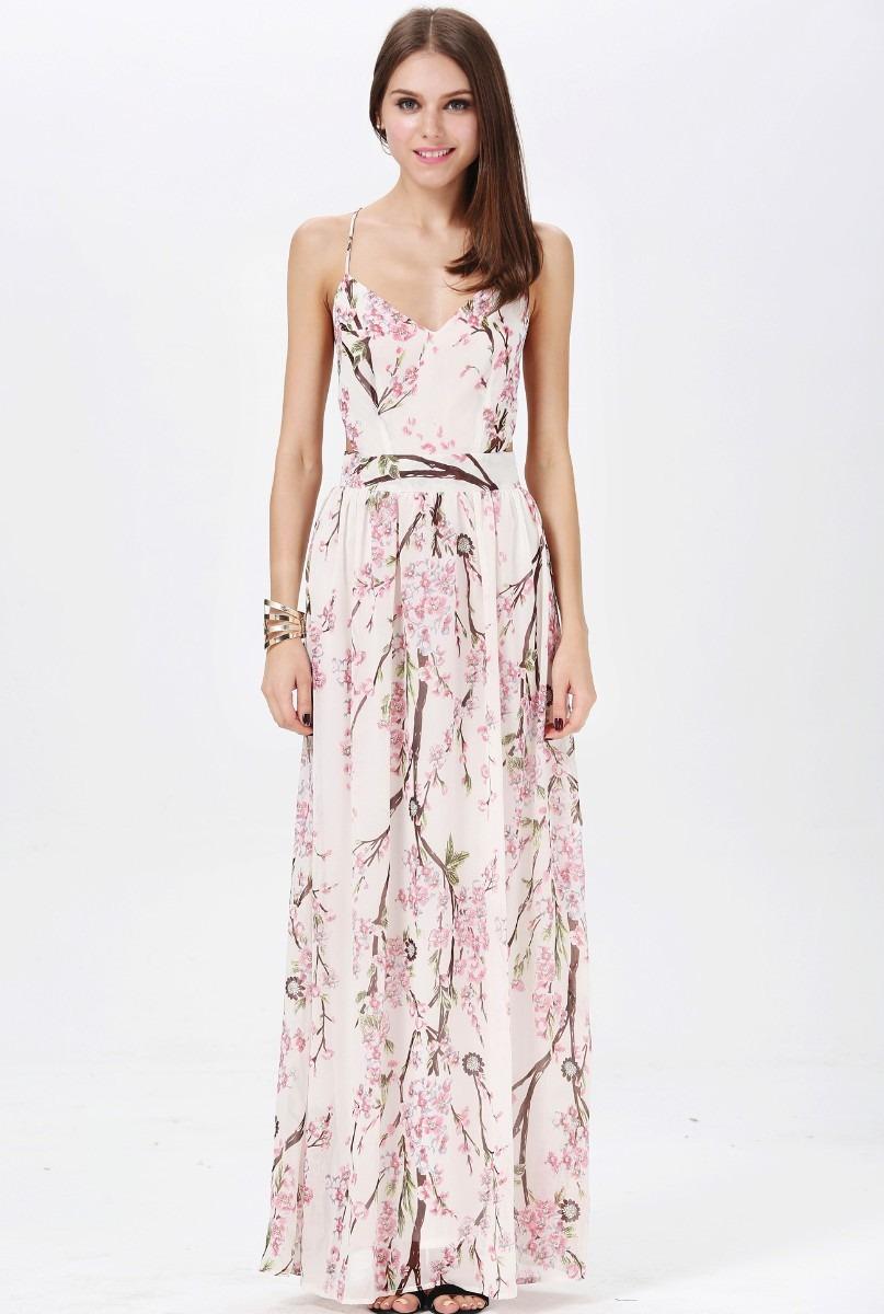 41cab702f0 Vestidos largos informales de flores - Vestidos verano