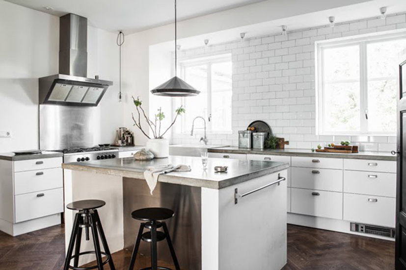 Cocinas en blanco moda y todo lo demas for Cocina blanca y madera